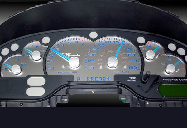 US Speedo Stainless Steel Gauge Face Kit