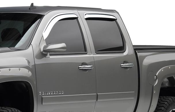 Rain Guards For Trucks >> Egr Chrome Window Visors Egr Chrome Rain Guards
