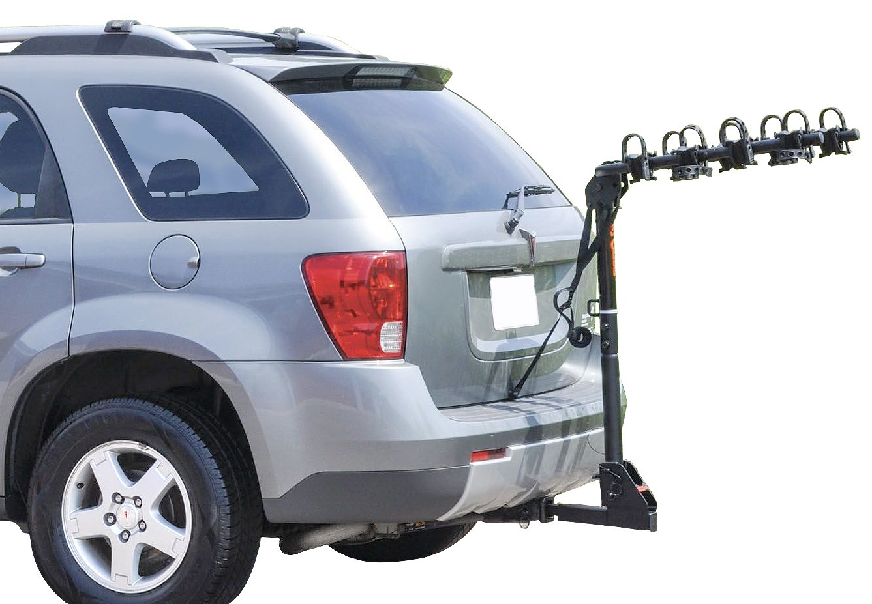 Extendable Bike Rack : Curt extendable bike rack hitch mounted bicycle holder