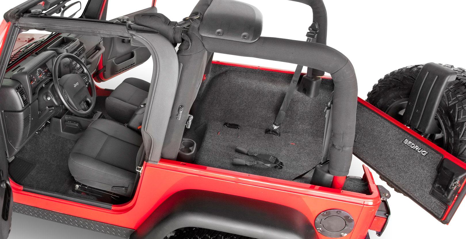 Bedrug jeep carpet bedrug jeep floor liner for Interior jeep accessories