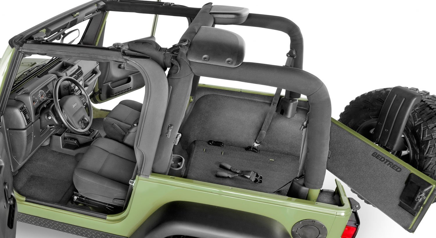 6893b340cf BedRug BedTred Jeep Floor Liner, BedRug Bed Tred Jeep Flooring