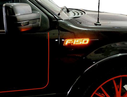 Recon Illuminated Fender Emblems Led Ford Logo Ships Free