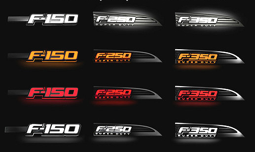 Recon Illuminated Fender Emblems Led Ford Logo Ships Free