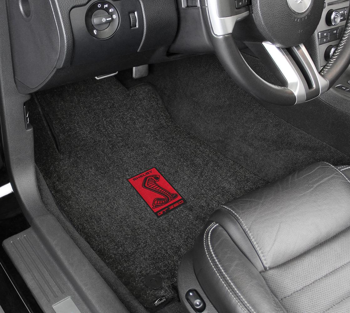 Lloyd mats mustang logo floor mats custom ford logo car mats for Auto flooring