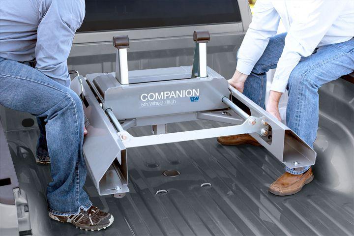 B&W Gooseneck Companion Slider 5th Wheel Hitch - Free Shipping