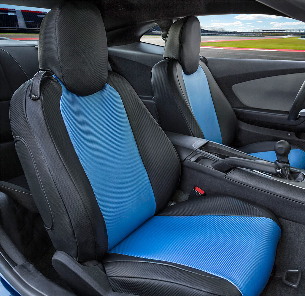 Jeep Wrangler Seat Covers >> CalTrend Carbon Fiber Seat Covers - Cal Trend Carbon-Fiber Weave