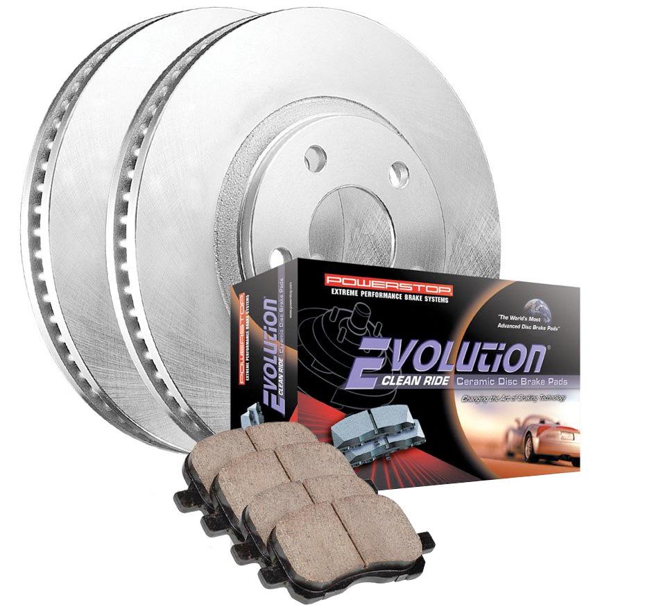 Power Stop KOE4693 Autospecialty Front Replacement Brake Kit-OE Brake Rotors /& Ceramic Brake Pads