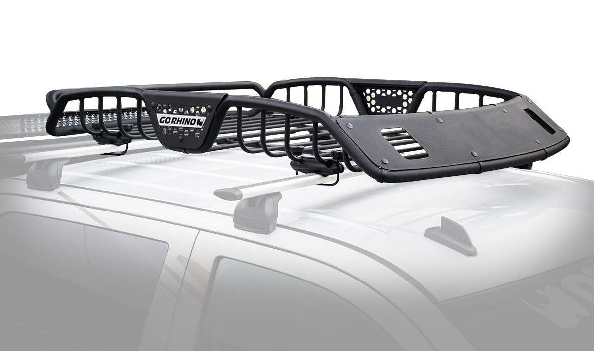 Go Rhino Sr Roof Rack Gorhino Safari Basket W Lights