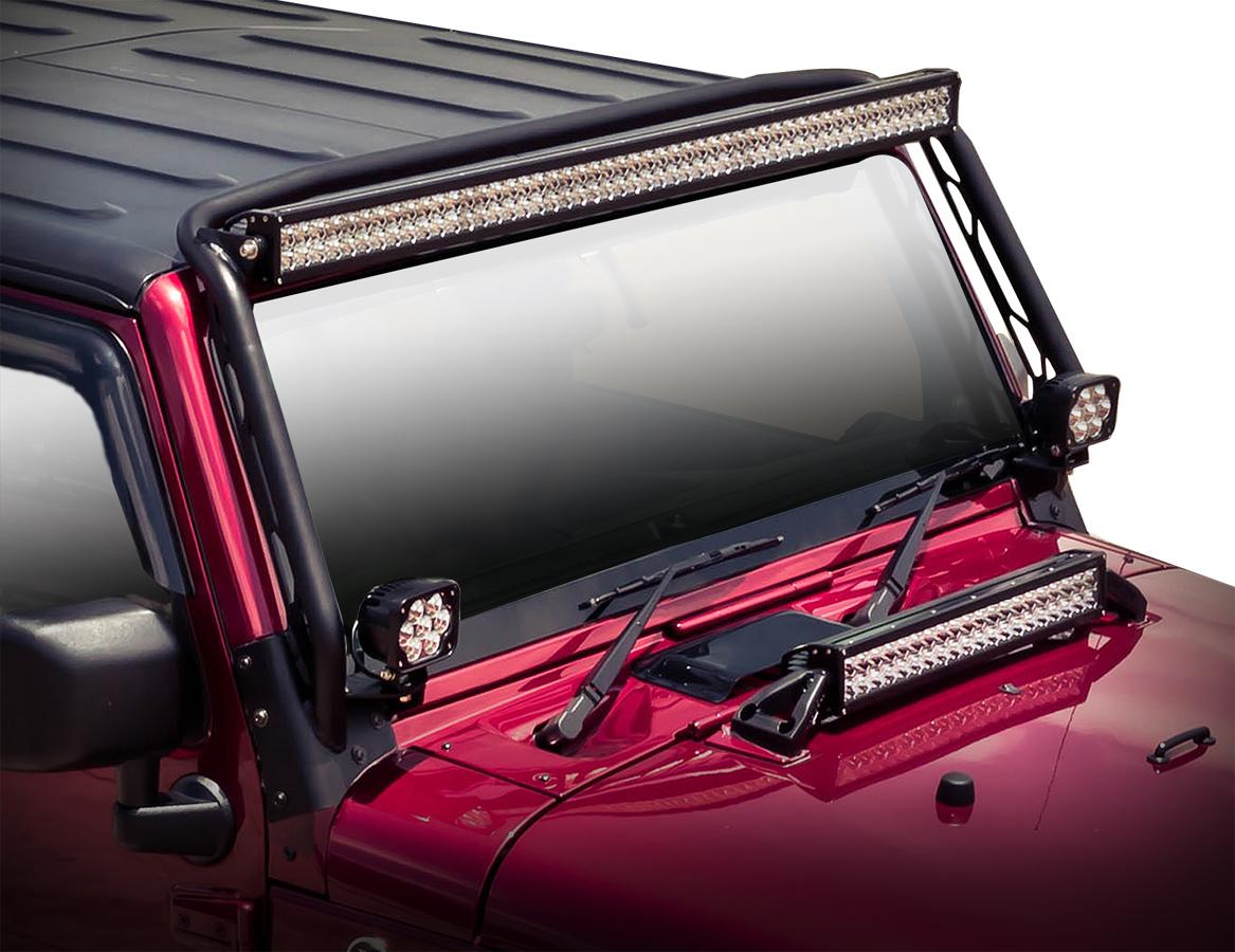jeep wrangler led light mounts westin led light mounts for jeep. Black Bedroom Furniture Sets. Home Design Ideas