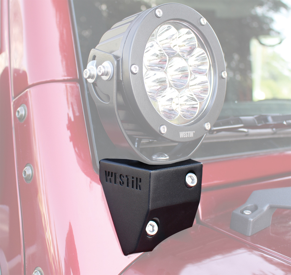 Westin Jeep Wrangler Led Light Mounts Westin Led Light