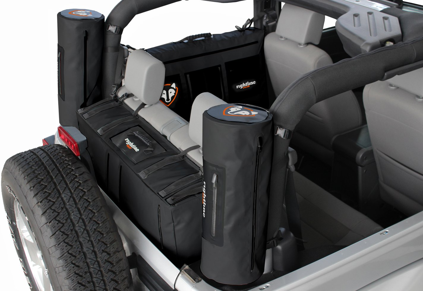 Rightline jeep storage bags jeep wrangler cargo for Car interior storage solutions