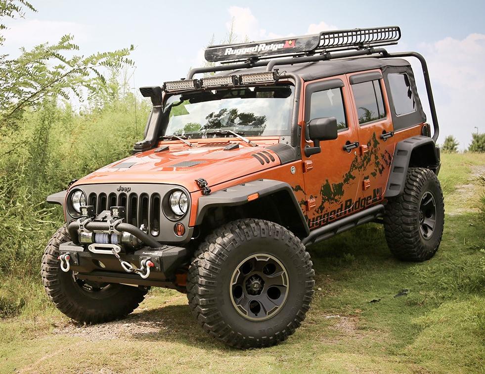 Flat Fender Jeep >> 2007-2018 Jeep Wrangler Rugged Ridge Hurricane Fender ...