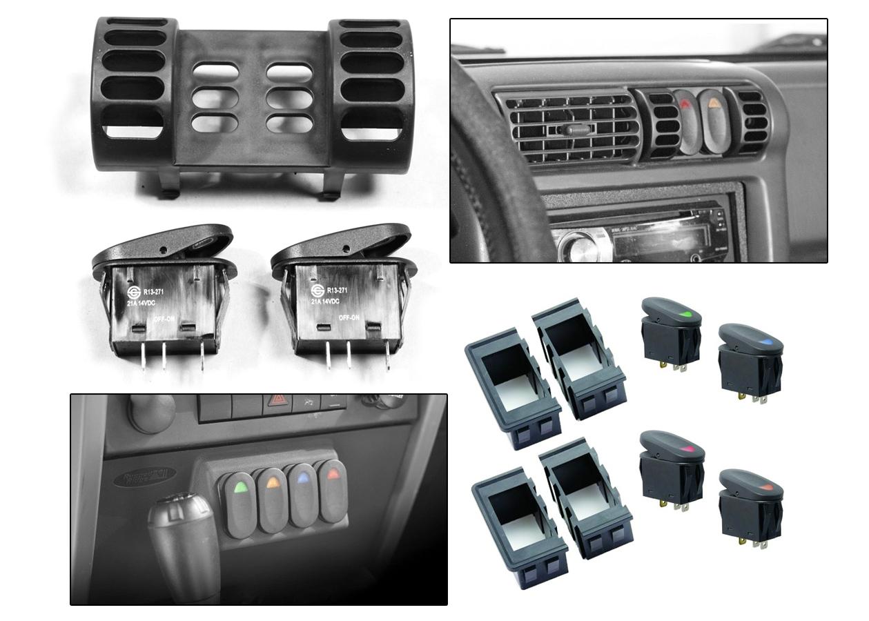 Rugged ridge switch pod for Interior jeep accessories