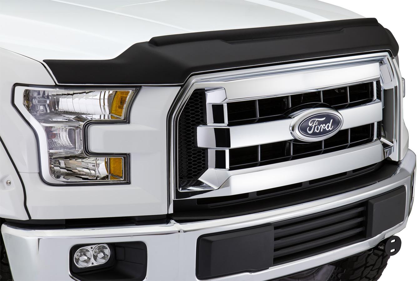 2015 2018 Ford F150 Avs Matte Black Aeroskin Ii Bug Deflector
