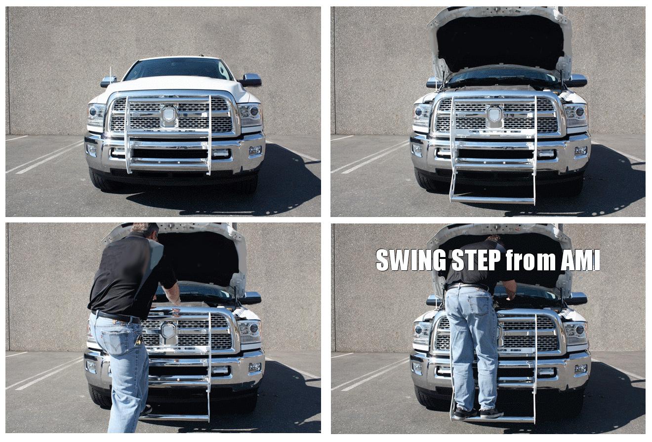 AMI Swing Step Grille Guard - AutoAccessoriesGarage.com