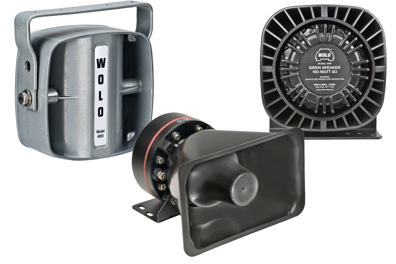 Wolo 4003 100 Watt Siren Speaker