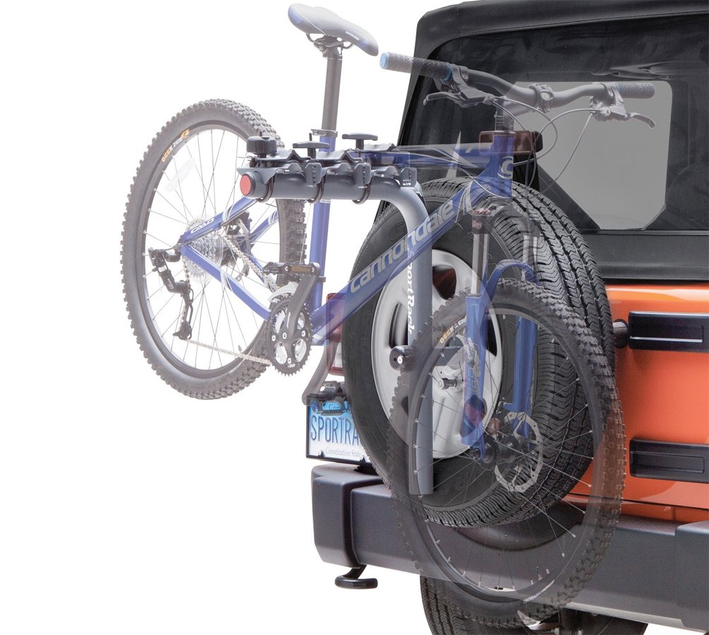 sportrack pathway spare tire deluxe bike rack - free shipping