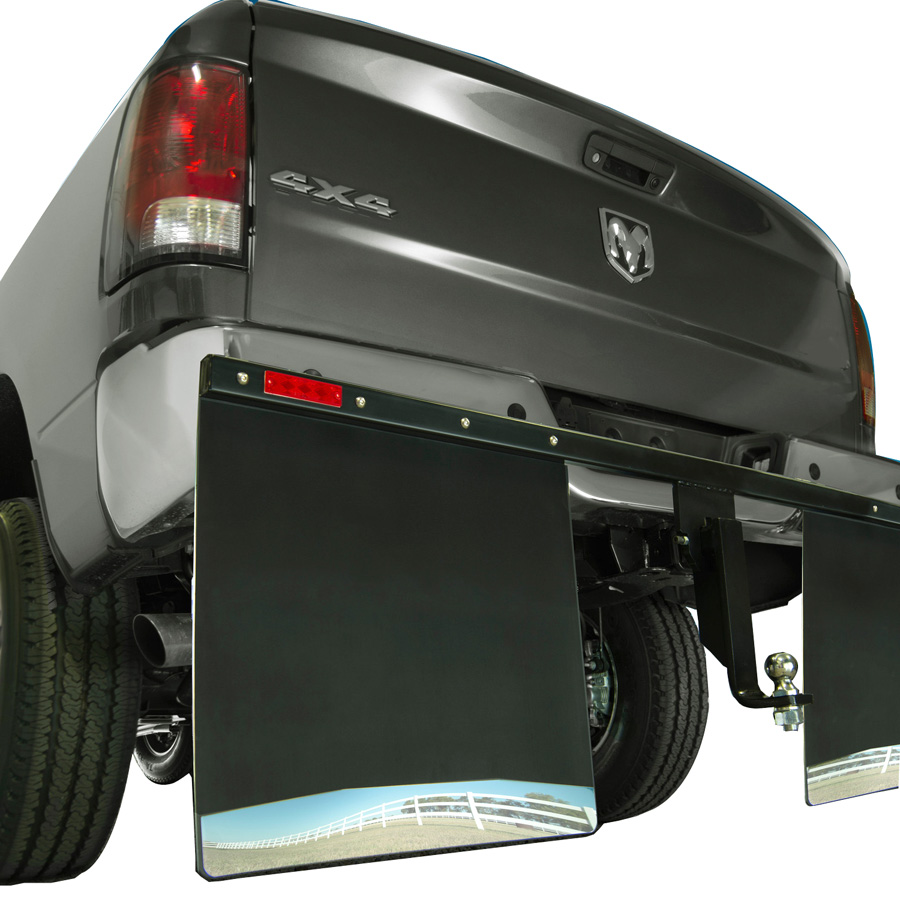 Husky Hitch Mount Mud Flaps on toyota sienna trailer