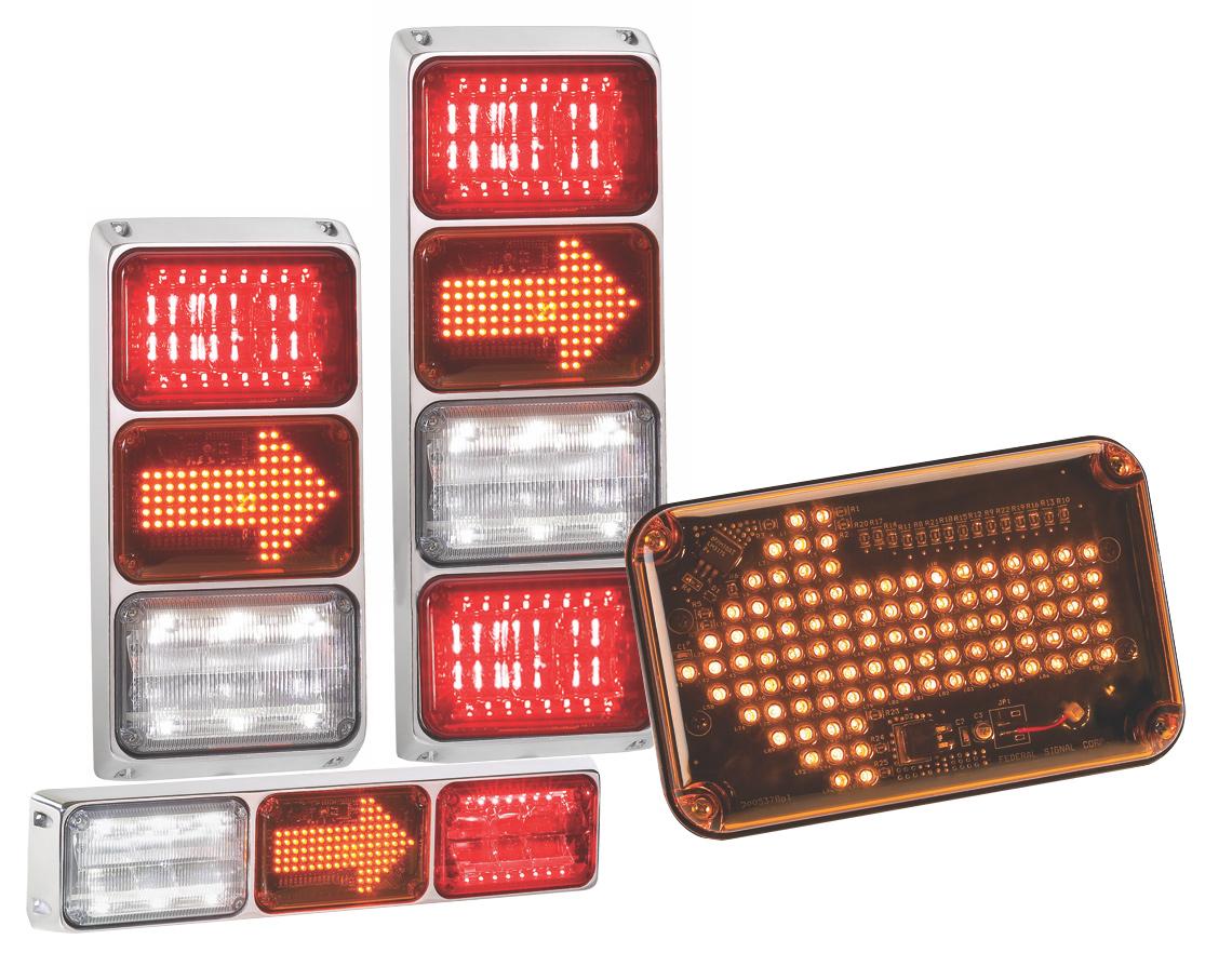 Federal Signal Quadraflare Brake Turn Tail Lights Ql64 Arrow