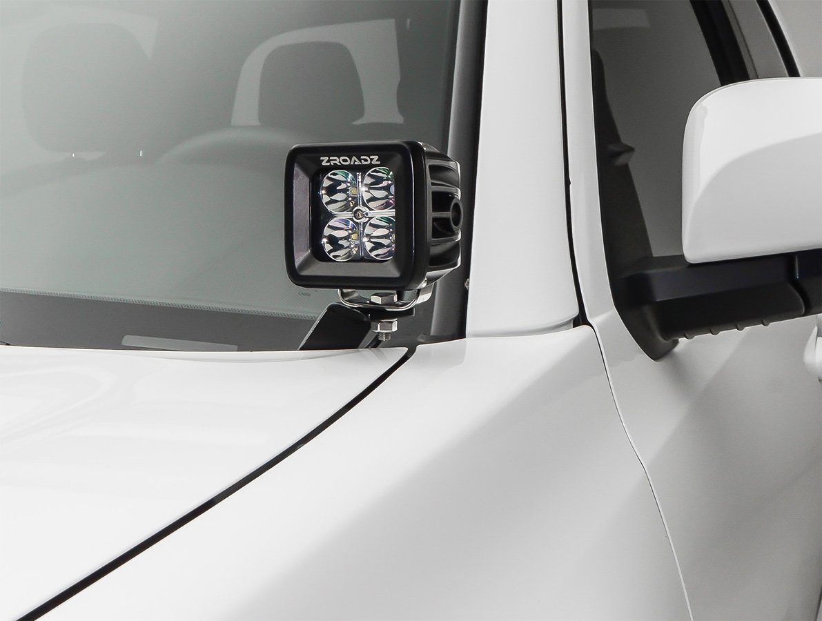 Jeep Liberty Off Road >> 2015-2016 Chevy Silverado ZROADZ Hood Hinge LED Light Pod ...