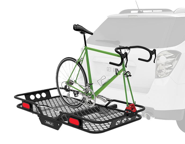 Bike Cargo Carrier : Rola vortex hitch mounted cargo carrier rear mounting