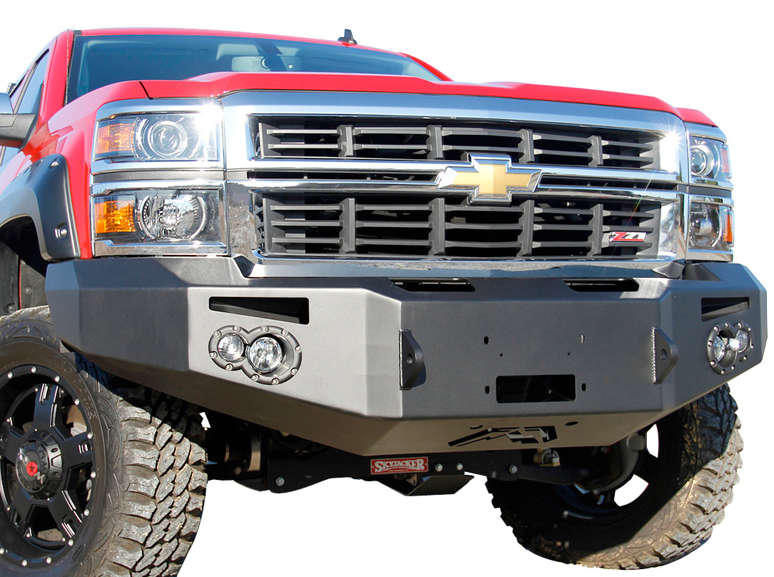 Fab fours premium front bumper free shipping on winch for Garage auto fab ennery