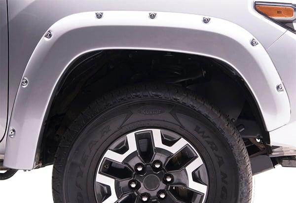 Fits 10 18 Dodge Ram 2500 3500 Boss Pocket Rivet Fender Flare Sanded Black