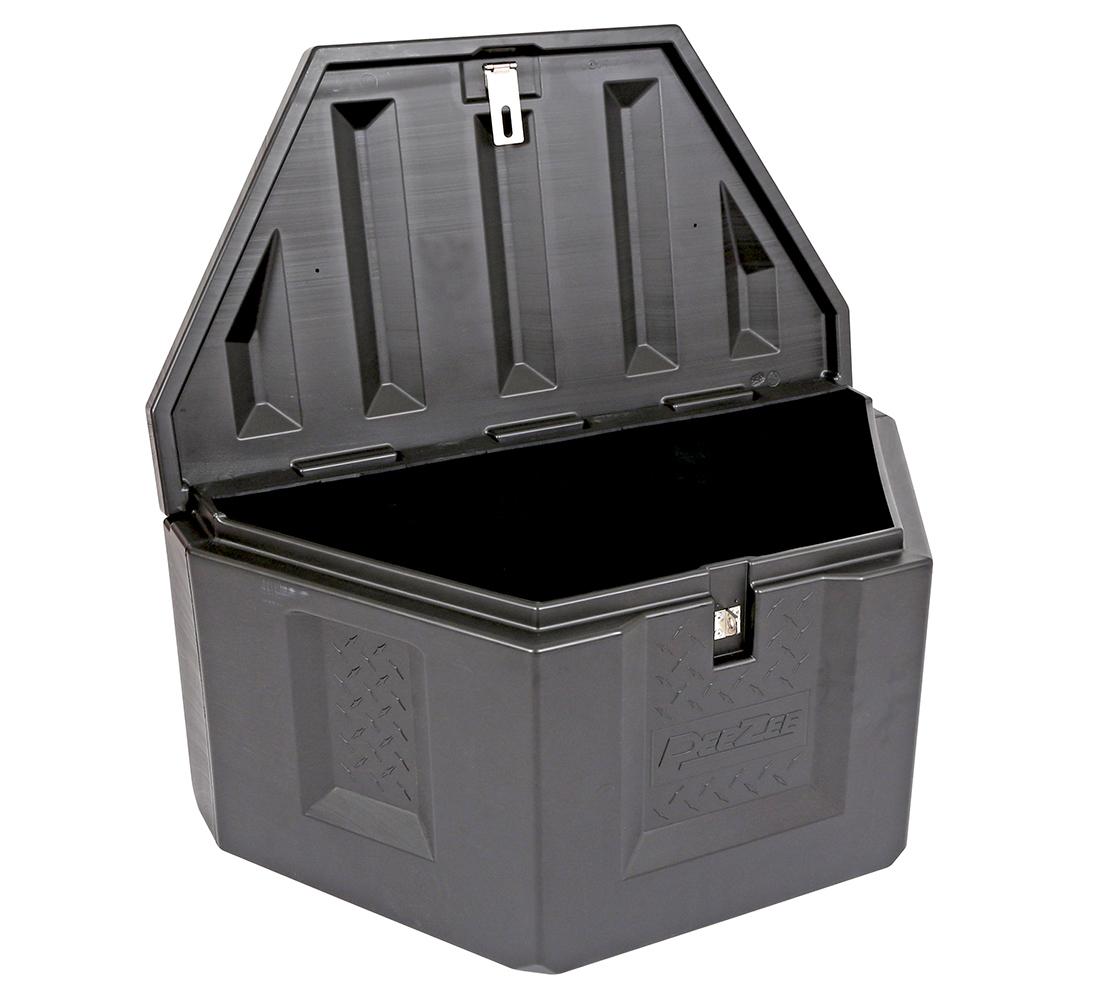 Plastic Truck Tool Box >> Dee Zee Poly Triangle Trailer Tongue Tool Box - A-Frame - FREE SHIP