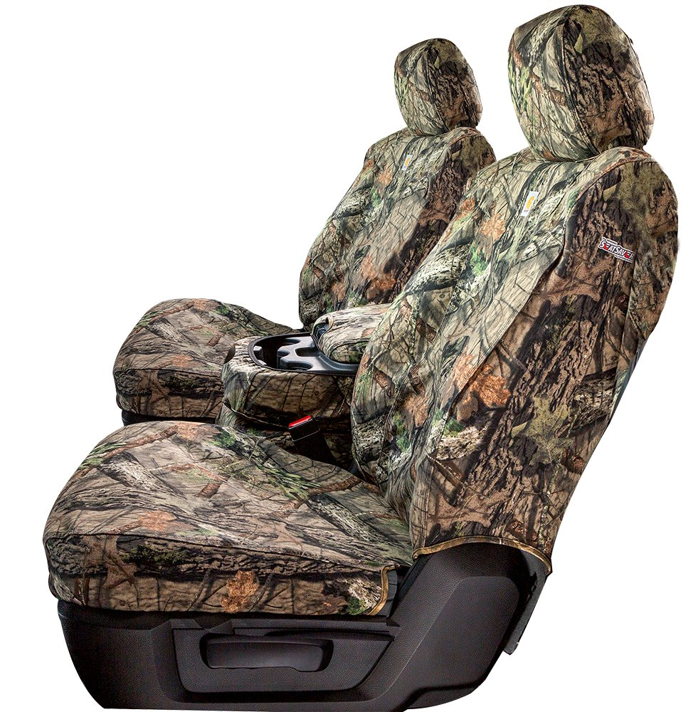 Duck Weave Covercraft Carhartt Mossy Oak Camo SeatSaver Third Row Custom Fit Seat Cover for Select Toyota Sequoia Models SSC7485CAMB Break-Up Country