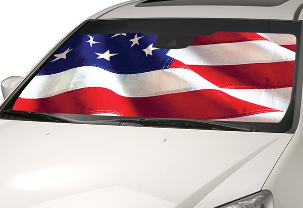 Intro-Tech American Flag Sun Shade