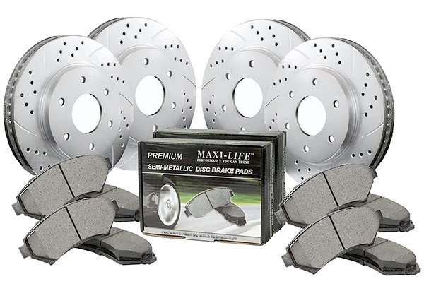 Maxim Drilled & Slotted Geomet Coated Metallic Brake Kit