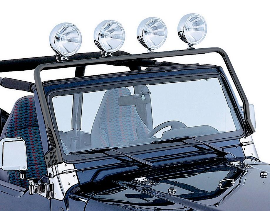 Rugged Ridge 11232.01 Black Full Frame Light Bar Pair for 97-06 Jeep Wrangler TJ