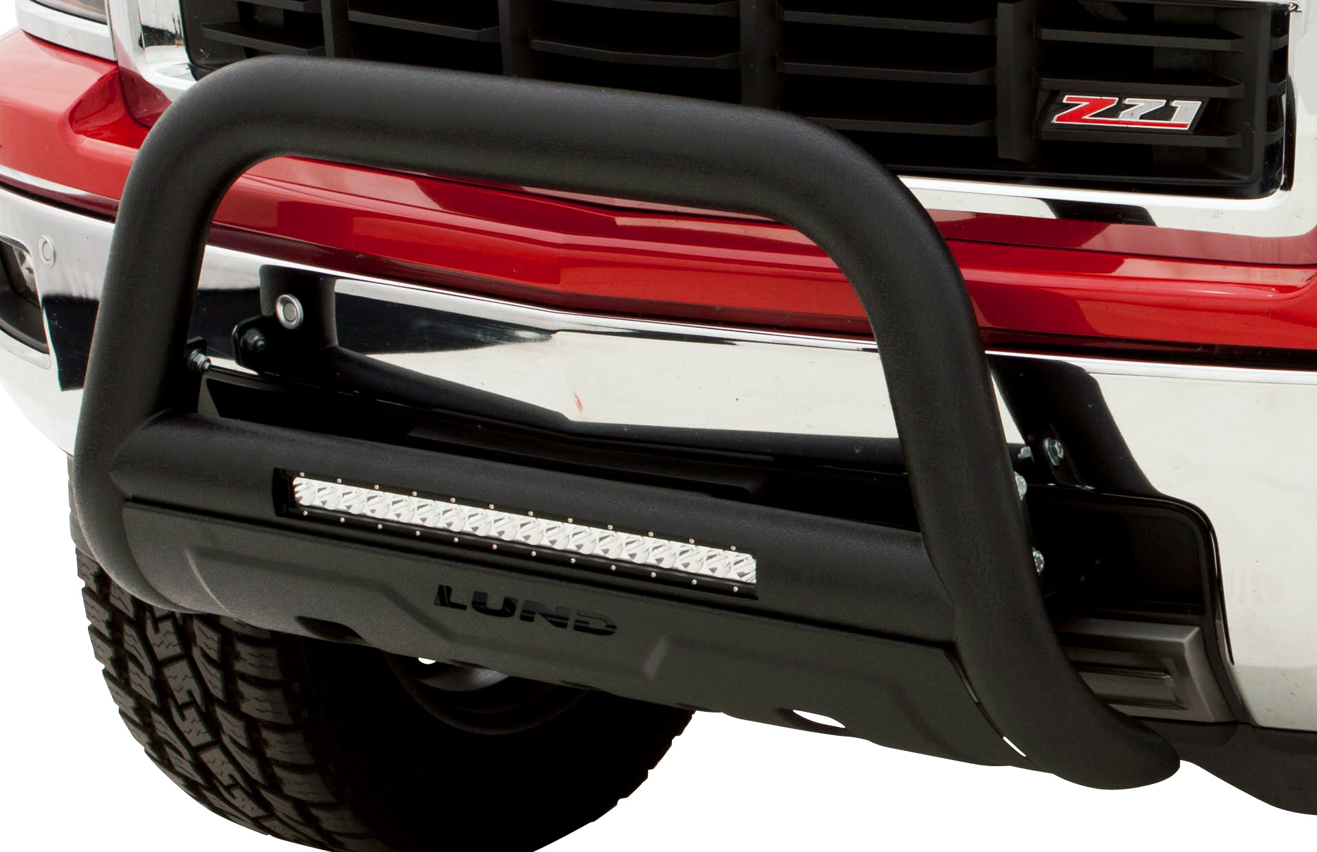 2016 2018 toyota tacoma lund bull bar with led light bar lund 47121213 available colors thumbnail thumbnail aloadofball Gallery