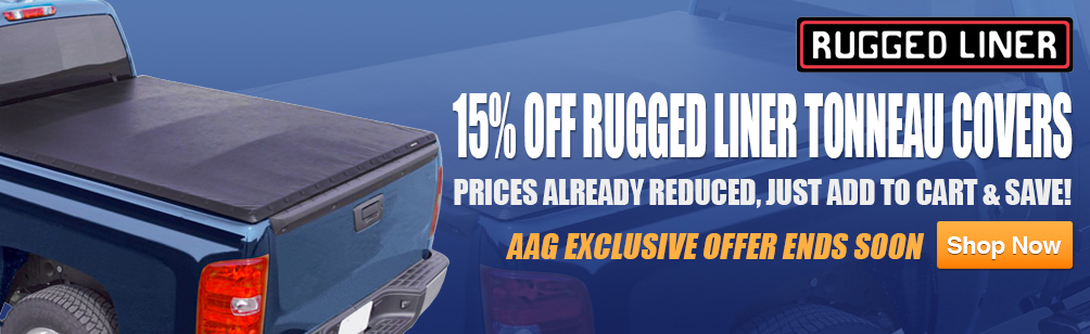 15% Off Rugged Liner Tonneau Covers