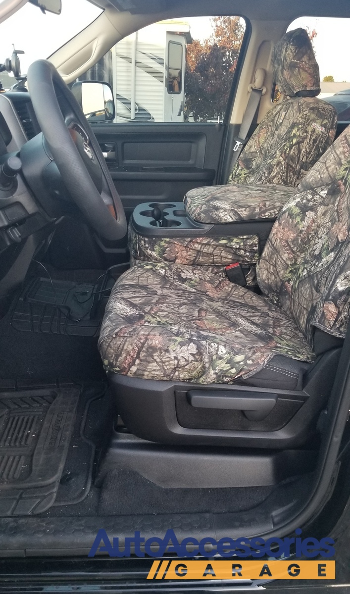 SSC7474CAMB Covercraft Carhartt Mossy Oak Camo SeatSaver Second Row Custom Fit Seat Cover for Select Jeep Renegade Models Duck Weave Break-Up Country