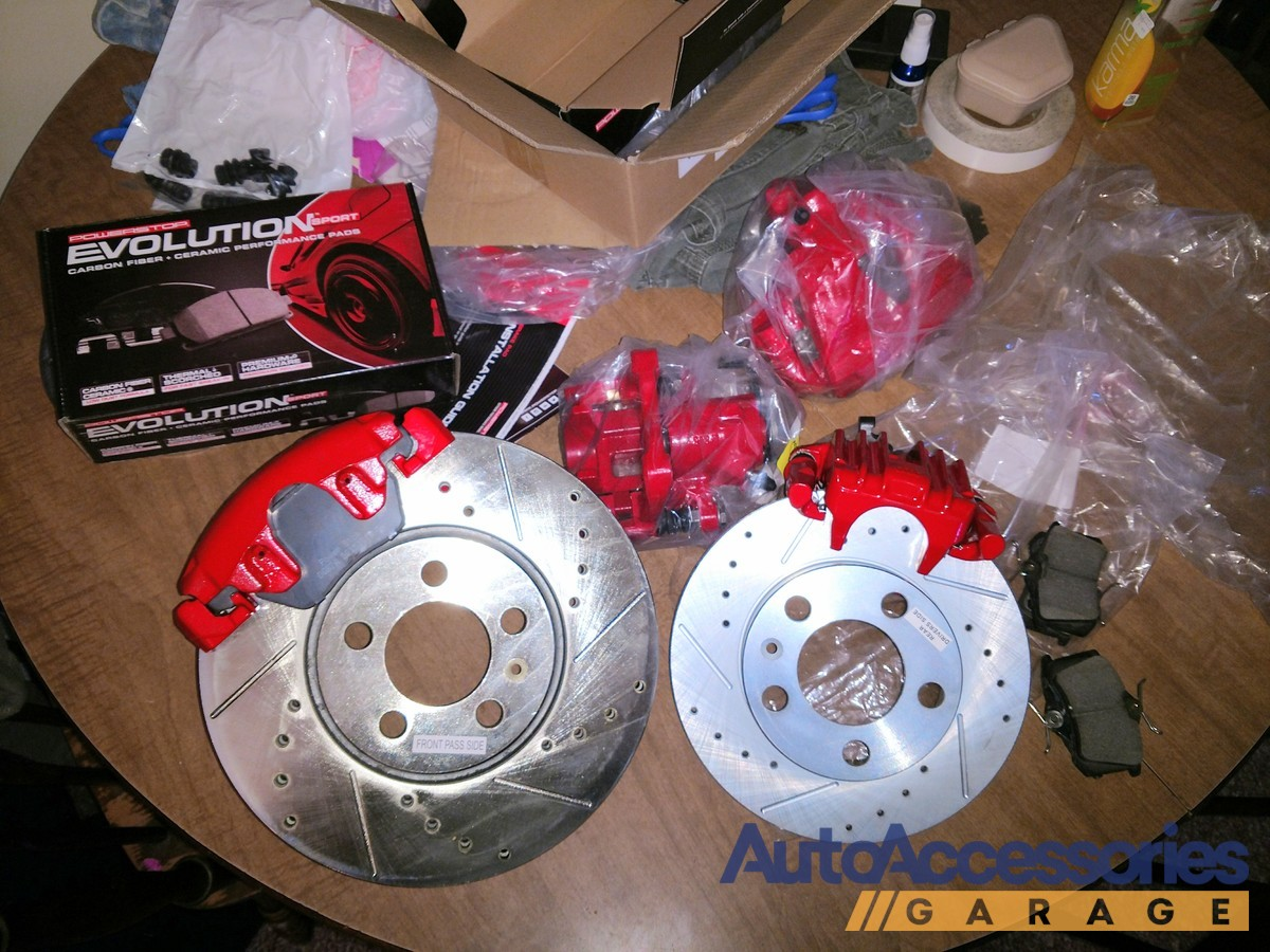 Power Stop Rotors >> Power Stop Performance Brake Kit with Calipers - Free Shipping