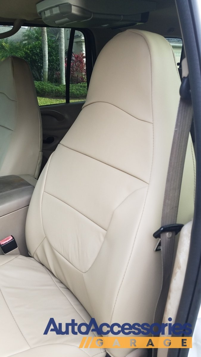 Leather seat covers caltrend leather seat covers cal trend for Garage seat 78