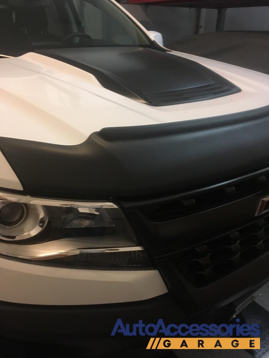 2017 2019 Nissan Titan Avs Matte Black Aeroskin Ii Bug Deflector