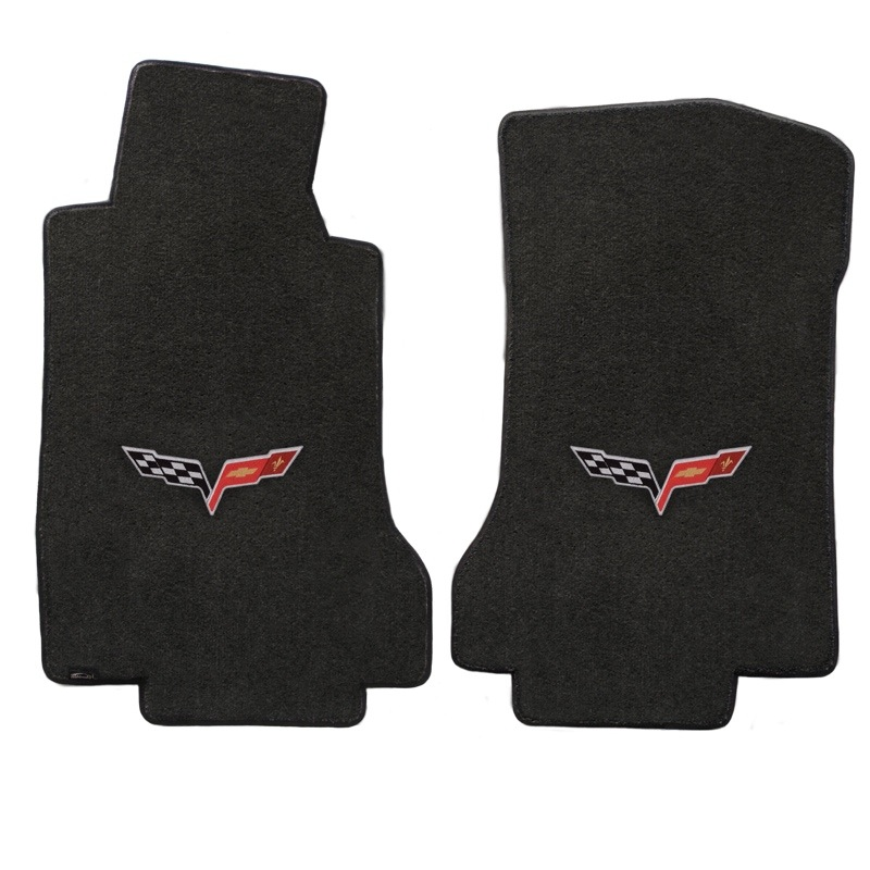 2005 2007 Chevy Corvette Lloyd Corvette Logo Floor Mats