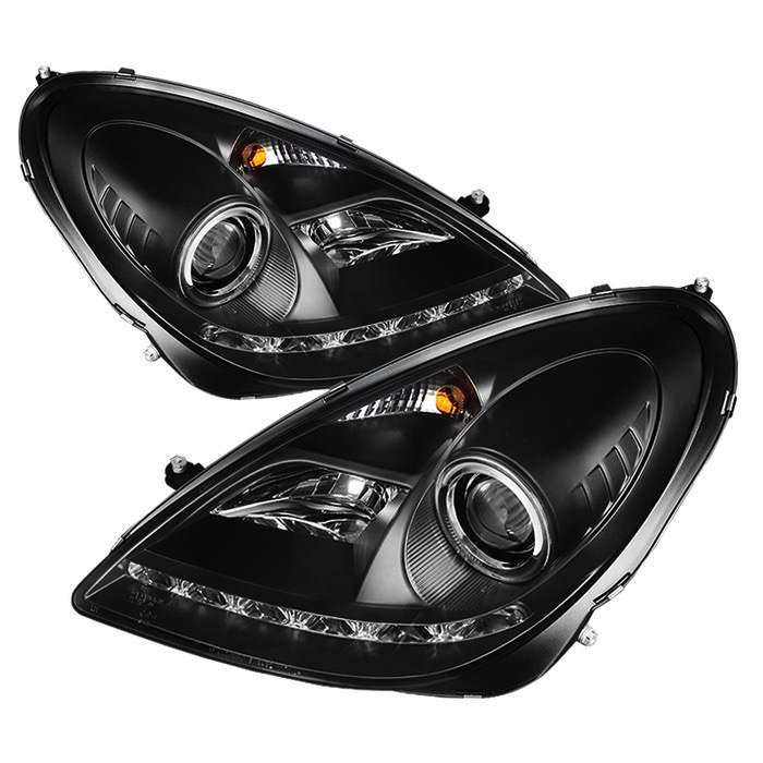 2005 2010 Mercedes Slk Class Spyder Headlights Spyder Pro Yd Mbslk05 Hid Drl Bk