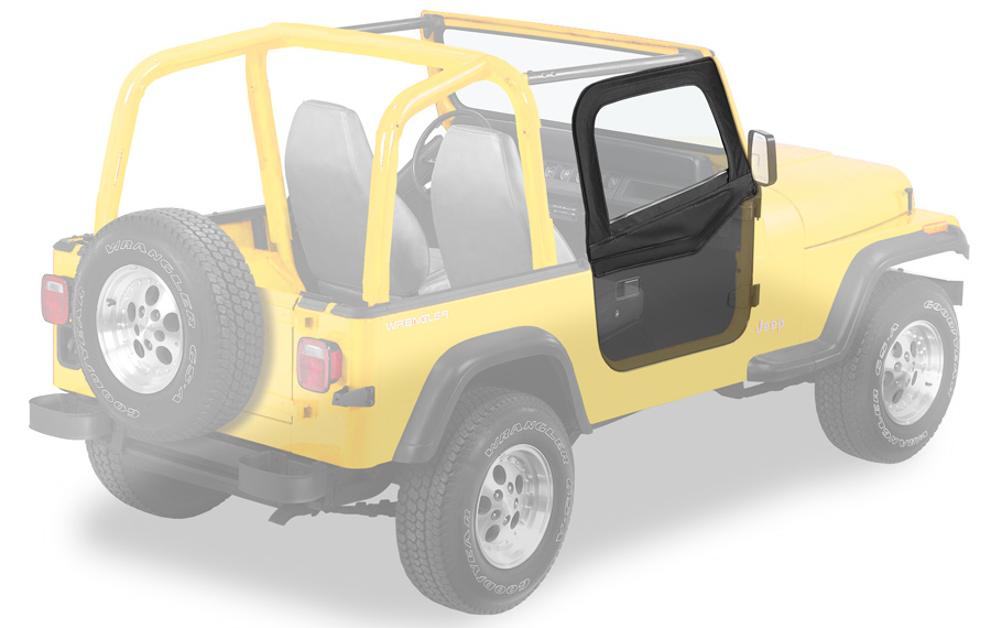 1988 1995 jeep wrangler bestop soft upper doors bestop for Garage jeep nimes