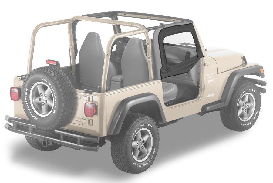 1997 2006 jeep wrangler bestop soft upper doors bestop for Garage jeep nimes
