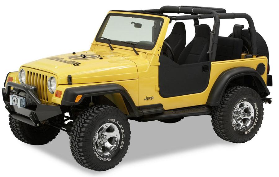 1997 2006 Jeep Wrangler Bestop Half Doors Bestop 53039 35