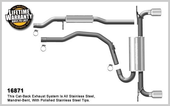 2007-2013 ford edge magnaflow exhaust system