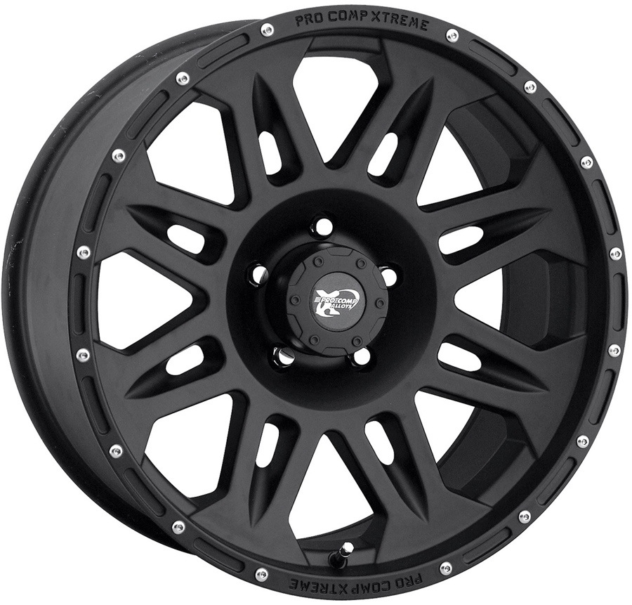 Pro Comp Cast Blast 7005 Black Wheels