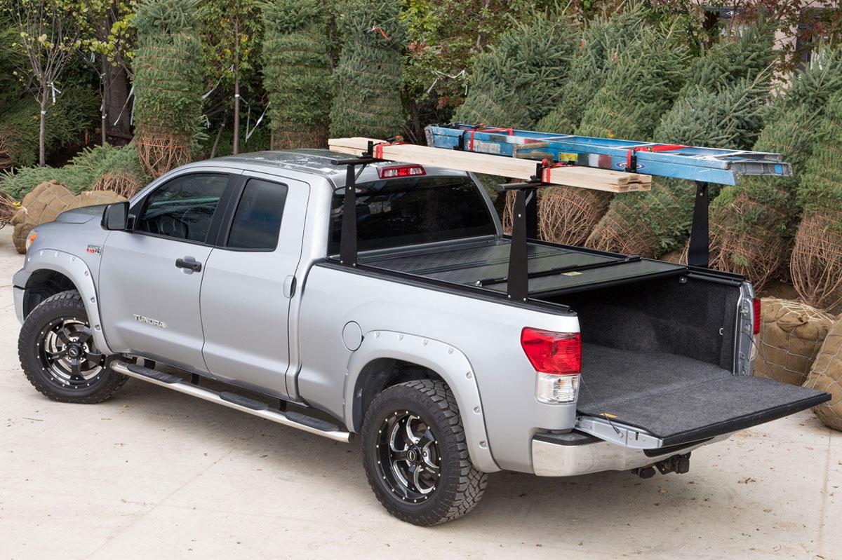 Tundra Bed Cover >> 2007 2019 Toyota Tundra Bak Bakflip Cs Tonneau Cover Rack Bak