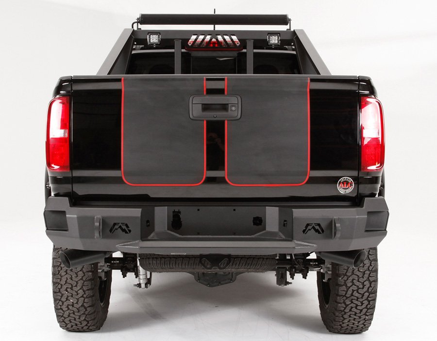 2015 2018 chevy colorado fab fours premium rear bumper fab fours cc15 w3350 1. Black Bedroom Furniture Sets. Home Design Ideas