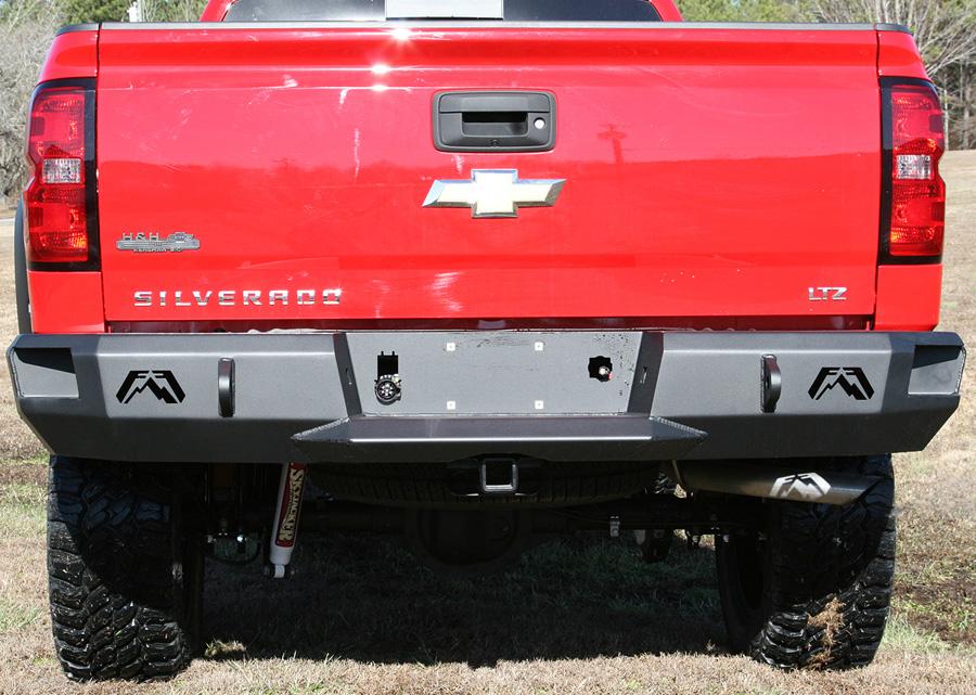 2007 2013 chevy silverado fab fours premium rear bumper for Garage six fours centre auto