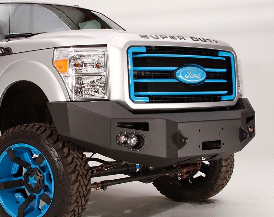 2005 2007 ford f250 fab fours premium front bumper fab for Garage six fours centre auto