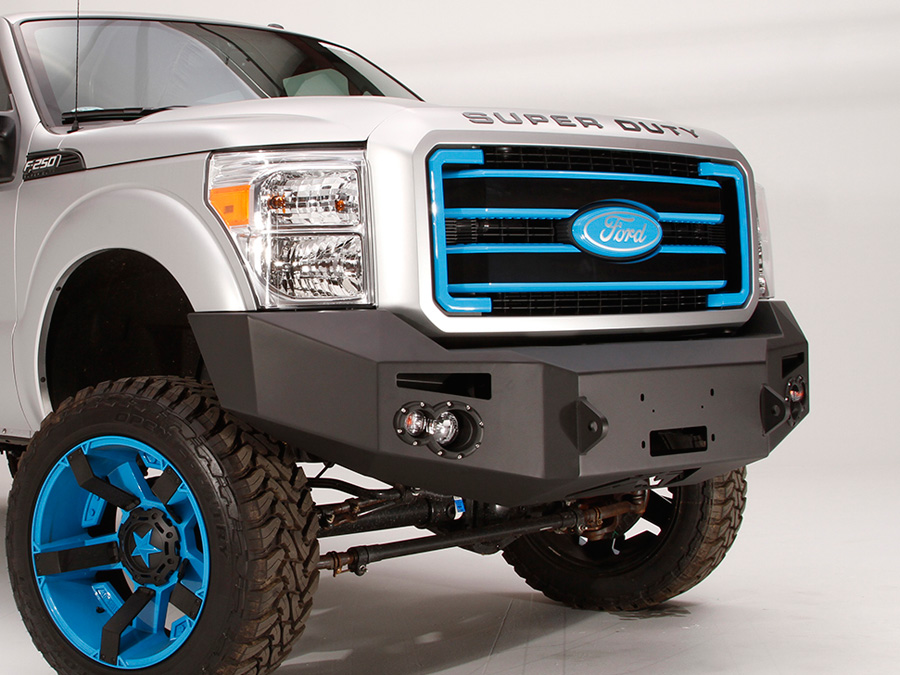 2008 2010 ford f250 fab fours premium front bumper fab for Garage six fours centre auto